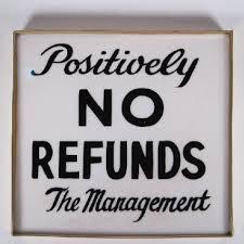 No Refund 1